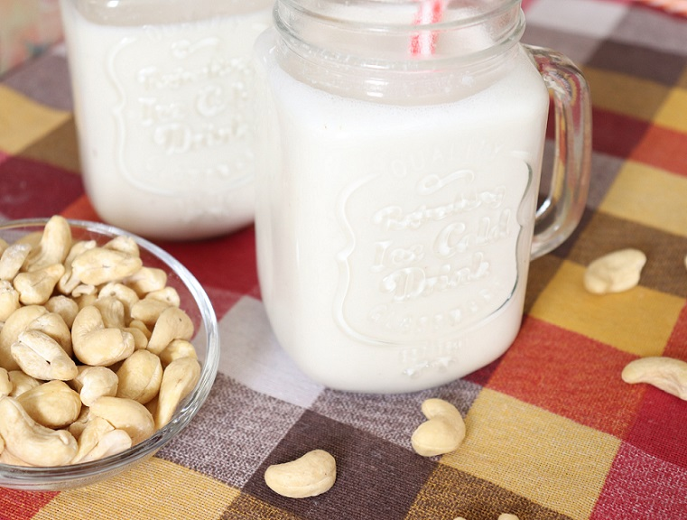 Cold and creamy, super easy to make cashew milk at home. Learn how to make homemade plant-based milk.