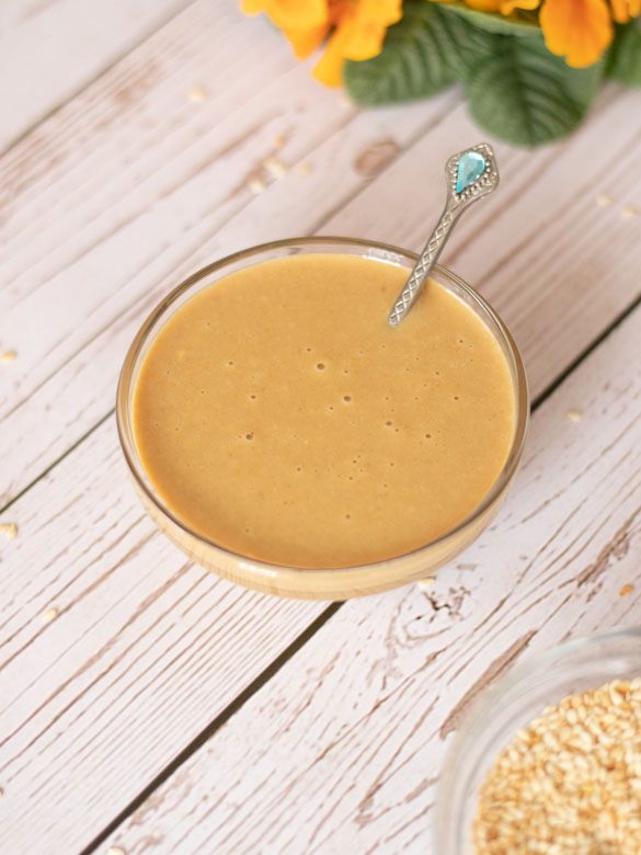 Quick and easy recipe for homemade tahini dip.