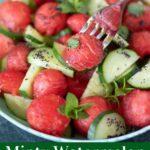 Fresh Mediterranean minty watermelon cucumber salad