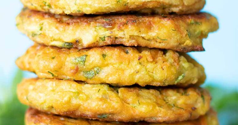 Vegan Zucchini Fritters with Chickpea Flour (Gluten-Free)