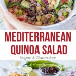 Simple Mediterranean salad with olives and avocado