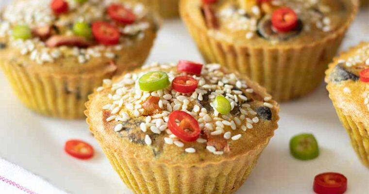 Mini Chickpea Flour Frittatas (Vegan & Gluten-Free)